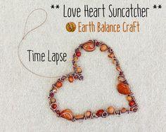 Time Lapse Copper Wire Work Video of an Artisan Gem Stone Suncatcher Design