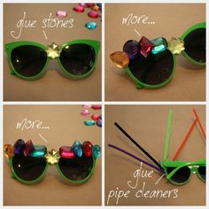 Halloween Sunglasses DIY : DIY Fashion by Trinkets in Bloom