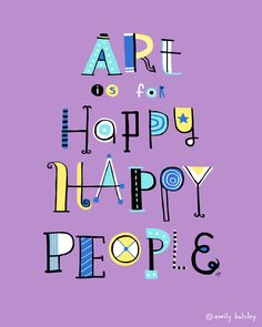 Artwork by Emily Balsley for Happy Happy Art Collective