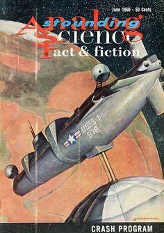 Astounding / Analog Science Fact & Fiction (June 1960), cover by John Schoenherr