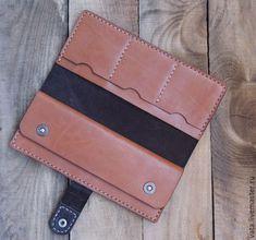 Купить Портмоне из кожи - коричневый, рыжий, кошелек, кошелек из кожи, портмоне, портмоне из кожи