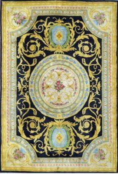 Important tapis au point de la Savonnerie. Milieu XXème siècle. 370 x 250 cm - Art-Valorem - 10/02/2015