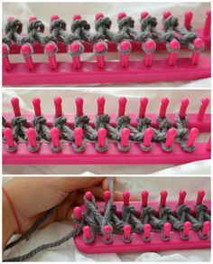 The Most Amazing Tutorial: How To Use A Knitting Loom To Make An Infinity Scarf - Knitting Pattern Knitting Ideas Knit 2020 Knitting Trend Loom Knitting Stitches, Knifty Knitter, Loom Knitting Projects, Arm Knitting, Yarn Projects, Crochet Projects, Knitting With A Loom, Yarn Crafts, Sewing Crafts