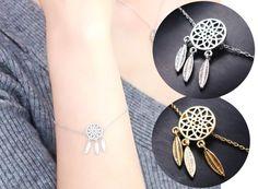 Srebrna złota bransoletka łapacz snów Dreamcatcher EdiBazzar Earrings, Jewelry, Magick, Ear Rings, Stud Earrings, Jewlery, Jewerly, Ear Piercings, Schmuck