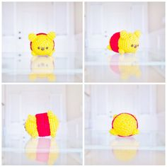 Disney Tsum Tsum Winnie the Pooh Small Crochet Amigurumi Plush on sale on Etsy for $25!