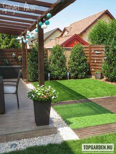 Spiegel Ákos Backyard Garden Design, Small Garden Design, Terrace Garden, Backyard Landscaping, Pool Patio Furniture, Outdoor Garden Furniture, Small Garden Landscape, Hot Tub Garden, Garden Deco