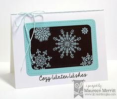 Maureen Merritt for Lil' Inker Designs October Release featuring the Cozy Christmas stamp set and Rounded Rectangles