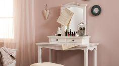 coiffeuse romantique blanche chambre