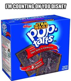 Star Wars Pop Tarts.  Just want to know when?