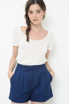 Tee shirt Manches Courtes Udame Blanc - T-shirt - Des Petits Hauts (37,5e) (taille 2 sûrement)