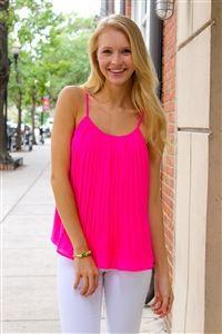 No Limits Top in Hot Pink. www.Shoplaurennicole.com  #hotpink #top #summerfashion