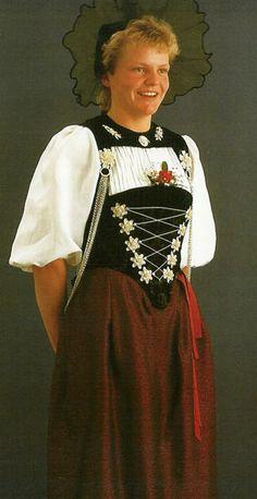 Traditional costume for Bern, Switzerland.