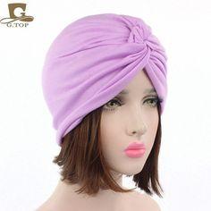 New Soft cotton elastic Turban Hat Chemo Hat Hair Covering Hijab Beanie Head Wrap twist Turban Doo Rag