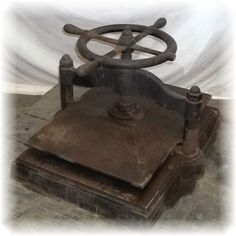 Large Cast Iron Book Binding Press  25x18 Plate