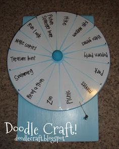DIY Spinner Prize Wheel by Doodle Craft   U Create. Chores, Summer activities, physical activities