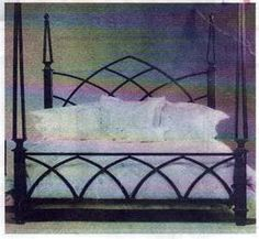 Gothic steel Bed.  Gotta have this for my house!