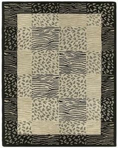 An animal-influenced border rug with a more contemporary appeal.