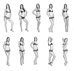 SIMPLE STANDING MODEL POSES