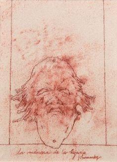 La máscara de la lujuria (2003) Dibujo 12 x 16,5 Cm.
