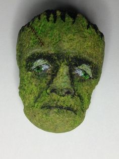 Outsider Art Original Painting Stone Kaveman Rock Frankenstein Folk Halloween | eBay
