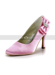 Pink, White or Ivory Flat top Satin Rubber sole Wedding shoes  http://www.miamastore.com/product.php?id_product=4213