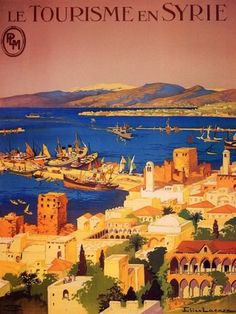 Vintage travel poster - Syria