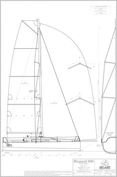 Buzzard 950, racing sailboat | Bedard Yacht Design