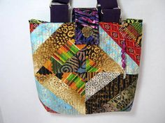 Purple Tribal Tote Bag by JDCreativeHands on Etsy
