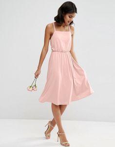 ASOS WEDDING Crepe Cross Back Midi Dress | $62