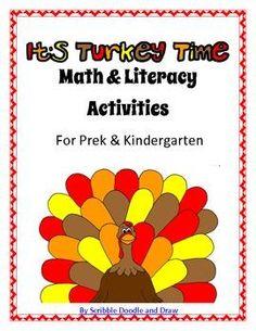 Math & Literacy activities perfect for prek & kindergarten