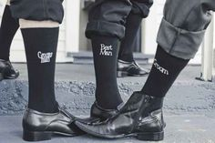 Give the wedding party socks that specify their role. | 25 Ways To Make Your Wedding Funnier