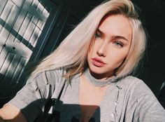 anothaaaa because why not ; Blonde Girl Selfie, Beautiful Girl Makeup, Summer Outfits For Teens, Stylish Girl Pic, Just Girl Things, Foto Pose, Ulzzang Girl, Pretty Woman, Makeup Looks