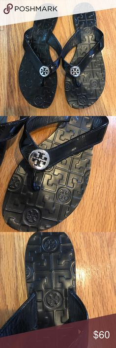 Authentic Brand new never worn Tory burch sandals Authentic Brand new Tory burch Monroe patient leather  sandals Tory Burch Shoes Sandals