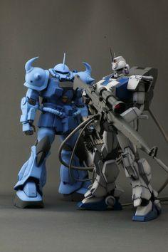 GUNDAM GUY: MG 1/100 Ez-8 Gundam Sniper - Custom Build with Gouf custom