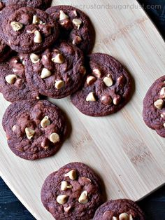 Peanut Butter Chip Chocolate Cookies...cookies make with pudding mix turn out so soft and fluffy with great rich chocolate flavor!