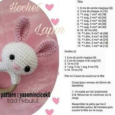 Good Free amigurumi tiernos Ideas Your unveiling connected with the Typical Miffy Amigurumi Crochet Kit and XL Miffy Amigurumi Crochet Kit discovered Sew Crochet Diy, Crochet Bunny, Crochet Animals, Hand Crochet, Crochet Hats, Baby Rattle, Stuffed Animal Patterns, Crochet Projects, Amigurumi Patterns