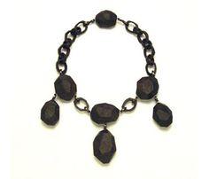Stephanie Jendis - necklace in ebony & silver
