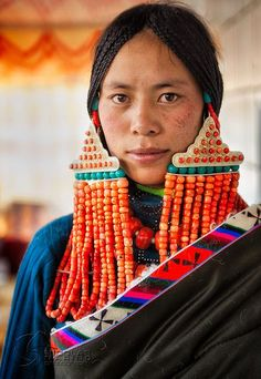 Tibetan woman in traditional costume
