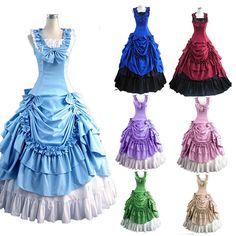 Free Shipping Halloween Costumes for Women Adult Southern Victorian Dress Ball Gown Gothic Lolita Dress Plus Size Customized