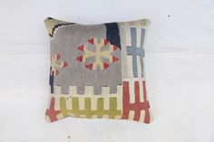 Turkish Kilim Pillowcase, Home Decor, Interior Design 16''x16'' -40x40cm