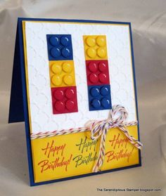 Lego Punch Art CAS179 by ellentaylor - Cards and Paper Crafts at Splitcoaststampers