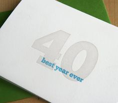 simple letterpress 40th