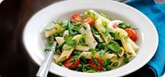 Looking for a Syn-free lunch recipe? This healthy chargrilled chicken, spinach and pasta salad is a winner. Pasta Salad Recipes, Healthy Salad Recipes, Lunch Recipes, Spinach Pasta, Spinach Stuffed Chicken, Italian Chef, Italian Recipes, Chargrilled Chicken, Slimming World Recipes