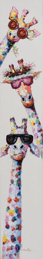 Produktinformationen Gemälde Lustige Giraffen 351641 Material:Holz Pop Art, Cute Wallpapers, Poster, Wall Art, Diy, Animals, Drawings, Stickers, Art