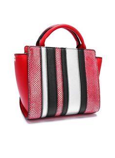 Shoulder Fashion Color Block PU Black Blue Gray Red Medium Bags