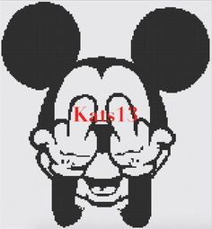 Mickey mouse fuck disney cross stitch