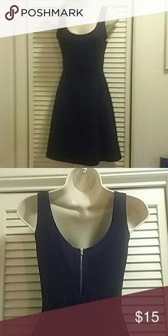 Express Skater Dress Cotton spandex blend dress has zippered enclosure in back. Express Dresses Mini