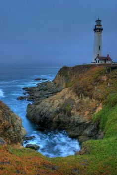 ✮ Early morning shot of Pigeon Point Lighthouse in Pescadero, CA