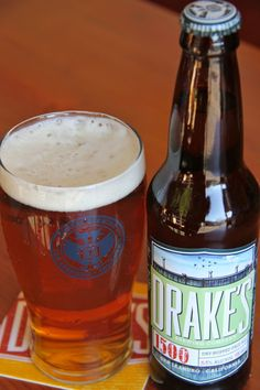 "One of three beers that we served at our wedding, the 1500 American Pale Ale from Drake's (in San Leandro, CA) was our ""mid-weight"" beer. Crisp and flavorful, the brew ended up being *much* better out of the glass, oddly.