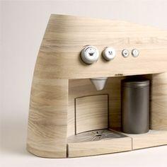 wooden appliance! Linje Espressomaker by Oystein Helle Husby.